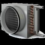 Водяной нагреватель под круглый канал